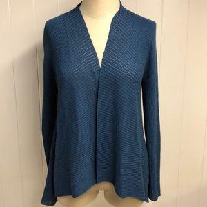 Eileen Fisher Wool Open Knit Cardigan